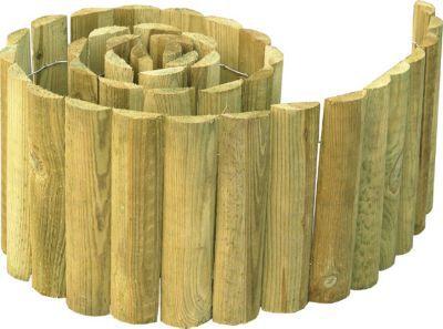 bordure demi rondin bois stelmet 150 x cm castorama. Black Bedroom Furniture Sets. Home Design Ideas