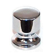 6 boutons cylindre plastique chrome