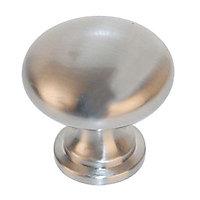6 boutons de meuble Anglais zamak nickel 3 x 3,1 cm