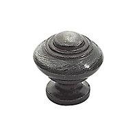 6 boutons de meuble Regence zamak vieux fer 3 x 2,9 cm
