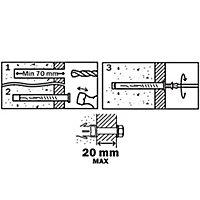 6 chevilles d'expansion Diall nylon pour cadres CSHX 10x80mm