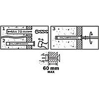 6 chevilles d'expansion Diall nylon pour cadres CSTX 10x120mm