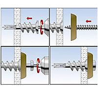 6 chevilles métal autoforeuses charge moyenne Fischer 31mm