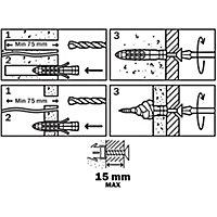 6 chevilles universelles Diall nylon CL Ø8x65mm