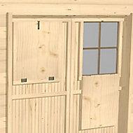 Volet intérieur porte pour abri de jardin bois Luoman