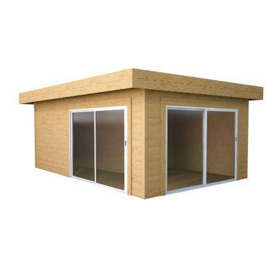 abri de jardin bois blooma samsa modern 16 25m castorama. Black Bedroom Furniture Sets. Home Design Ideas
