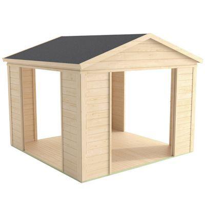 abri de jardin bois modulable blooma solna 8 79m castorama. Black Bedroom Furniture Sets. Home Design Ideas