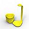 Mini potager Genie jaune 18 × 21 × 44 cm