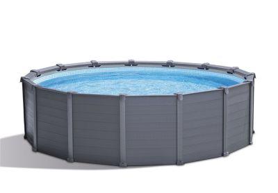 Kit piscine tubulaire graphite 4 17 m castorama - Piscine tubulaire castorama ...