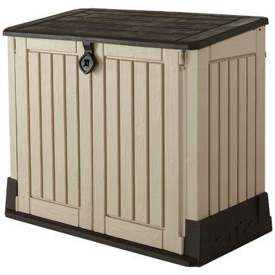 coffre de rangement ou abri poubelles polypropyl ne. Black Bedroom Furniture Sets. Home Design Ideas