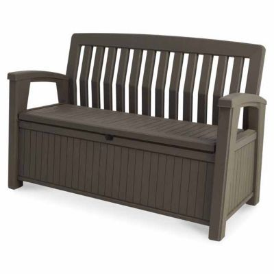 coffre banc de rangement plastique keter patio bench 227l castorama. Black Bedroom Furniture Sets. Home Design Ideas