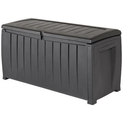 coffre de rangement plastique keter novel 340l castorama. Black Bedroom Furniture Sets. Home Design Ideas