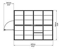 Serre aluminium et polycarbonate Palram Harmony 4,5 m²