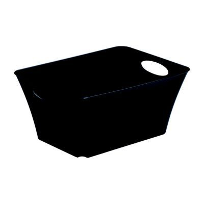 bo te de rangement plastique noir sundis living box 5l castorama. Black Bedroom Furniture Sets. Home Design Ideas