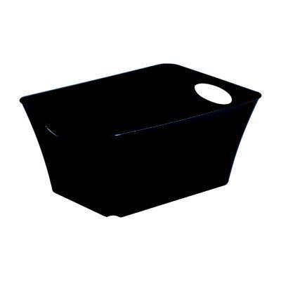 bo te de rangement plastique noir sundis living box 5l castorama. Black Bedroom Furniture Sets. Home Design Ideas