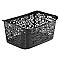 Panier à linge plastique 5L noir Urban