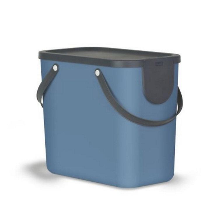 poubelle de tri albula bleue 25l  castorama