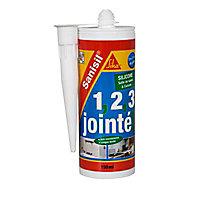 Mastic silicone anti-moisissure spécial sanitaire blanc Sika Sanisil 150 ml
