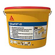 Revêtement d'étanchéité élastique pour toiture blanc Sika Sikafill-01 10 L