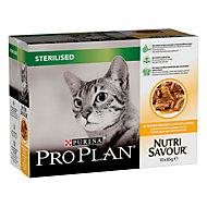 Aliment pour chat stérilisé Pro Plan poulet 10 x 85g