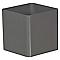 Pot carré polypropylène EURO3PLAST Cubik tourterelle ø16 x h.16 cm