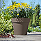 Pot rond plastique EURO3PLAST Simple tourterelle ø32 x h.67 cm