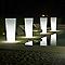 Pot lumineux rond plastique + kit d'éclairage EURO3PLAST Ilie light translucide ø37 x h.75 cm