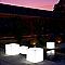 Pot lumineux carré plastique + kit d'éclairage Euro3Plast Kube light translucide 40 x 40 cm