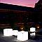Pot lumineux carré plastique + kit d'éclairage EURO3PLAST Kube light translucide 50 x 50 cm
