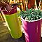 Pot rond plastique EURO3PLAST Tuit vert anis ø33 x h.61 cm