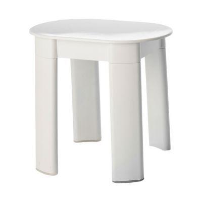 Tabouret ovale r sine blanc castorama - Tabouret plastique pour salle de bain ...