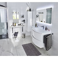 Colonne de salle de bains Cooke & Lewis blanc Vague 30 cm