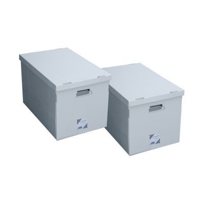 2 Boites Avec Couvercle En Carton Coloris Blanc Castorama