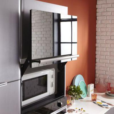 porte micro ondes hotpoint pmk 38 x castorama. Black Bedroom Furniture Sets. Home Design Ideas