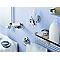 Porte-savon d'angle en laiton chromé System