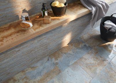 Carrelage sol et mur imitant ardoise 30 x 60 cm (vendu au carton) |  Castorama