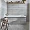 Carrelage sol et mur gris 20 x 60 cm Joppolo (vendu au carton)