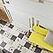 Carrelage sol et mur blanc 20 x 20 cm COLOURS Cementine (vendu au carton)
