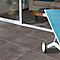 Carrelage sol anthracite 45 x 45 cm Angie (vendu au carton)
