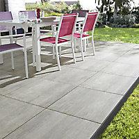Carrelage sol extérieur gris 60 x 60 cm Abbiati