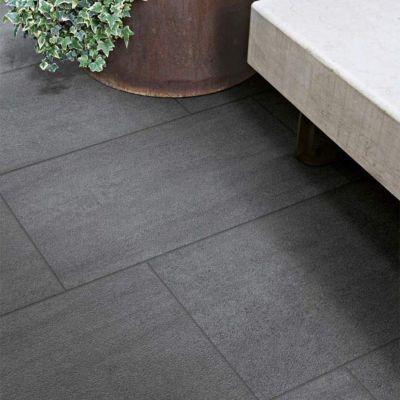 Carrelage terrasse noir 30 x 60 cm Sokio (vendu au carton)   Castorama