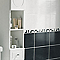 Carrelage mur blanc effet pierre 25 x 40 cm COLOURS Rigato (vendu au carton)
