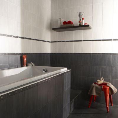 carrelage mur blanc 20 x 25 cm pastello vendu au carton castorama. Black Bedroom Furniture Sets. Home Design Ideas