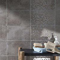 Carrelage mur taupe 25 x 40 cm Cenento