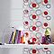 Carrelage mur blanc décor rouge 20 x 50 cm Baloni