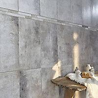Carrelage mur anthracite 26,5 x 52,5 cm Arturo