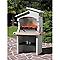 Barbecue fixe pierre reconstituée SUNDAY Boavista crystal