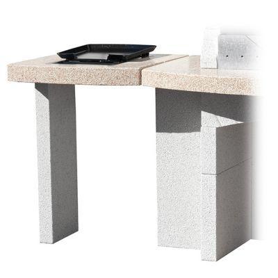plan de travail plancha pour barbecue fixe blooma makalu. Black Bedroom Furniture Sets. Home Design Ideas