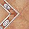 Angle de frise sol et mur céramique rouge 14 x 14 cm Castelli