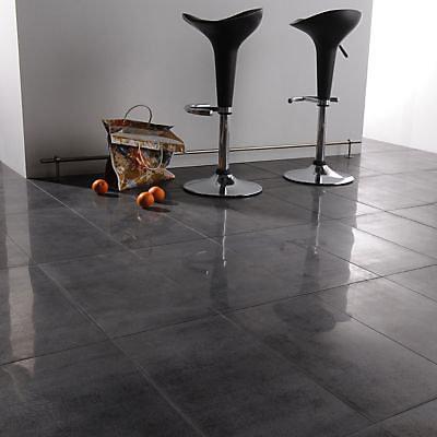 Carrelage Sol Poli Noir 30 X 60 Cm Qlife Vendu Au Carton Castorama